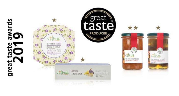 4 Νέα βραβεία για τα προϊόντα CITRUS στον διεθνή διαγωνισμό Great Taste Awards!