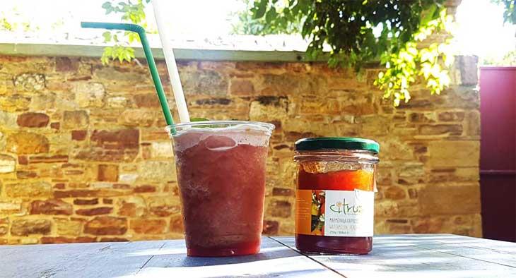 Γρανίτα καρπούζι, ροδάκινο με άρωμα πικραμύγδαλο - Citrus!