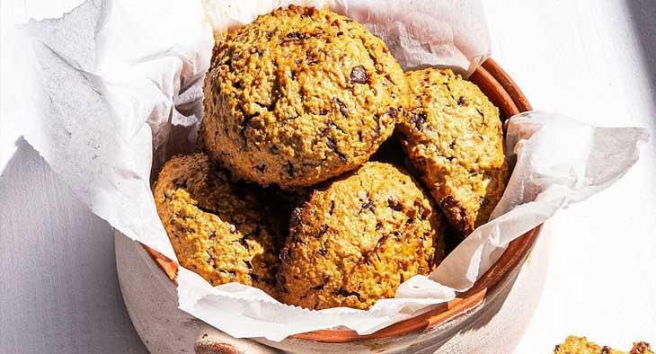 Μπισκότα βρώμης με φυστικοβούτυρο και σοκολάτα